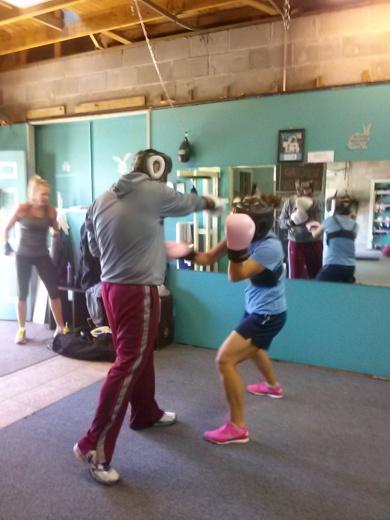 women's boxing, sparring, women sparring, women's workout, neptune beach gym