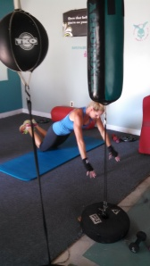 Push off push up 2: push off the ground as hard as you can and land softly, returning to the lowered push up position.