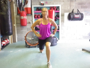Lunge backward