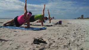 beach side plank